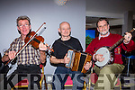 Padraig Healy Glenflesk, John Twomey Kilgarvan and Pat O'Brien Fossa playing the tunes at the Gathering Traditional Festival in the Gleneagle Hotel on Saturday night