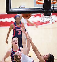 STANFORD, CA - February 22, 2019: Alyssa Jerome at Maples Pavilion. The Stanford Cardinal defeated the Arizona Wildcats 56-54.