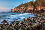 Sunrise on Otter Cliffs in Acadia National Park, Maine, USA