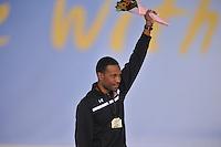 SCHAATSEN: SALT LAKE CITY: Utah Olympic Oval, 16-11-2013, Essent ISU World Cup, podium 1000m, Shani Davis (USA), ©foto Martin de Jong