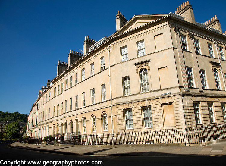 Georgian houses, Henrietta Street, Bath