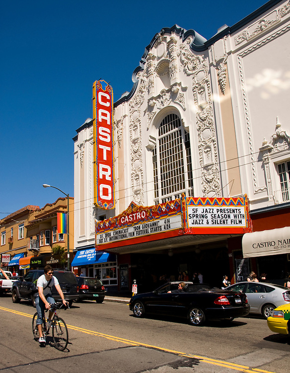 California: San Francisco. Castro Theatre in the gay Castro district. Photo copyright Lee Foster. Photo # 27-casanf79067