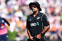 Blackcaps Ish Sodhi during the 4th ODI Blackcaps v England. University Oval, Dunedin, New Zealand. Wednesday 7 March 2018. ©Copyright Photo: Chris Symes / www.photosport.nz