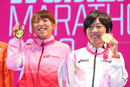 (L to R) .Ryoko Kizaki (JPN), .Mizuki Noguchi (JPN), .MARCH 10, 2013 - Marathon : .Nagoya Women's Marathon 2013 .in Aichi, Japan. .(Photo by YUTAKA/AFLO SPORT) [1040]