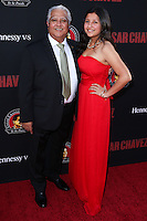 "HOLLYWOOD, LOS ANGELES, CA, USA - MARCH 20: Paul Chavez, Daniella Chavez at the Los Angeles Premiere Of Pantelion Films And Participant Media's ""Cesar Chavez"" held at TCL Chinese Theatre on March 20, 2014 in Hollywood, Los Angeles, California, United States. (Photo by David Acosta/Celebrity Monitor)"