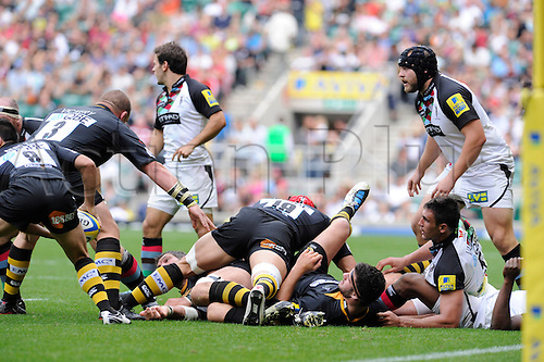 04.09.2010 Aviva Premiership Rugby Twickenham Stadium, London Wasps v Harlequins, London,