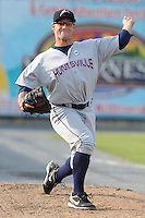 Huntsville Stars pitcher Brian Garman #29 warms up in the bullpen  during a game against the Tennessee Smokies at Smokies Park on August 12, 2012 in Kodak, Tennessee. The Smokies defeated the Stars 4-0. (Tony Farlow/Four Seam Images).