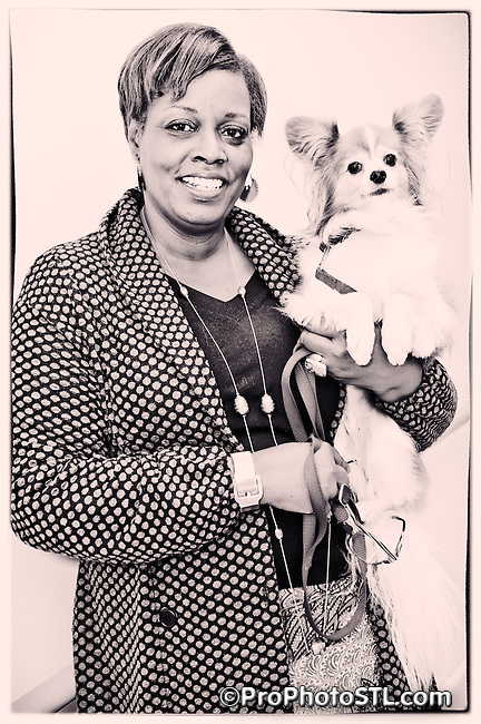 Singer Dianne Reeves with her pet Rudy