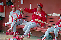 SAN FRANCISCO, CA - Manager Lou Piniella of the Cincinnati Reds sits in the dugout before a game against the San Francisco Giants at Candlestick Park in San Francisco, California in 1990. Photo by Brad Mangin