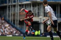 Joshua King of Bournemouth shoots at goal during the Premier League match between Tottenham Hotspur and Bournemouth at White Hart Lane, London, England on 15 April 2017. Photo by Mark  Hawkins / PRiME Media Images.