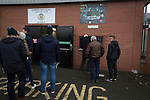 Visiting fans collecting tickets outside the Paisley2021 Stadium before Scottish Championship side St Mirren played Welsh champions The New Saints in the semi-final of the Scottish Challenge Cup for the right to meet Dundee United in the final. The competition was expanded for the 2016-17 season to include four clubs from Wales and Northern Ireland as well as Scottish Premier under-20 teams. Despite trailing at half-time, St Mirren won the match 4-1 watched by a crowd of 2044, including 75 away fans.