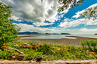 Views from Sitka National Historical Park, Sitka, Alaska USA.