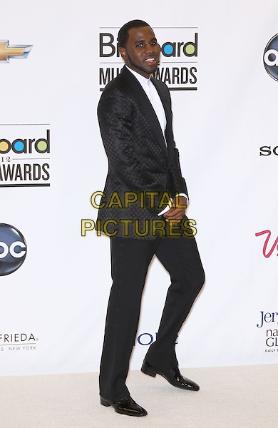 Jason Derulo.2012 Billboard Music Awards Press Room at the MGM Grand Garden Arena Las Vegas, Las Vegas, Nevada, USA..May 20th, 2012.full length white shirt black suit side hands .CAP/ADM/MJT.© MJT/AdMedia/Capital Pictures.