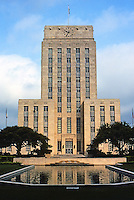 Houston: City Hall--elevation. Architect Joseph Finger. Art Deco style. Completed in 1939, partially funded by WPA grant. Photo '80.