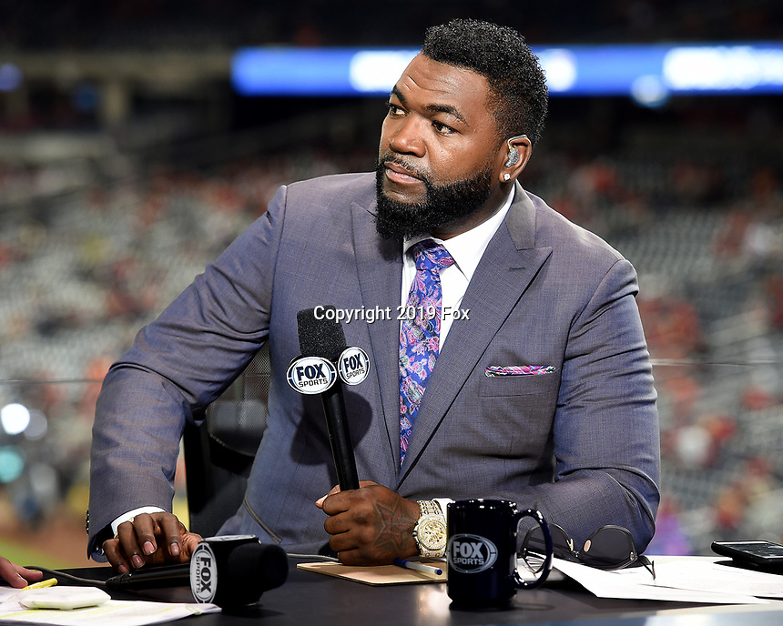 WASHINGTON DC - OCTOBER 27: David Ortiz at World Series Game 5: Houston Astros at Washington Nationals on Fox Sports at Nationals Park on October 27, 2019 in Washington, DC. (Photo by Frank Micelotta/Fox Sports/PictureGroup)