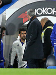 Chelsea's Jose Mourinho watches Diego Costa as he makes his way to the bench<br /> <br /> Barclays Premier League - Chelsea v AFC Bournemouth - Stamford Bridge - England - 5th December 2015 - Picture David Klein/Sportimage