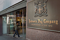 """A The Bay store is pictured in Toronto April 19, 2010. The Bay is a chain of 92 fashion department stores that operate across parts of Canada and is the main brand of Hudson's Bay Company (""""HBC""""), North America's oldest company."""