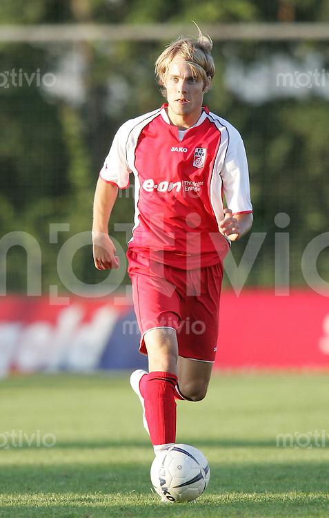 Erfurt , 140706 ; Testspiel Rot Weiss Erfurt - FC Sachsen Leipzig  Robert STARK (Erfurt) am Ball