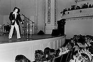 January 28th, 1976, singer Salvatore Adamo visits New York City and performs at Carnegie Hall