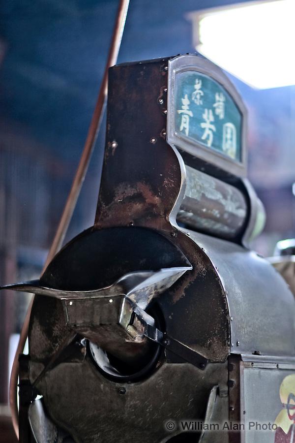 Tea grinder in Nara Japan January 2010
