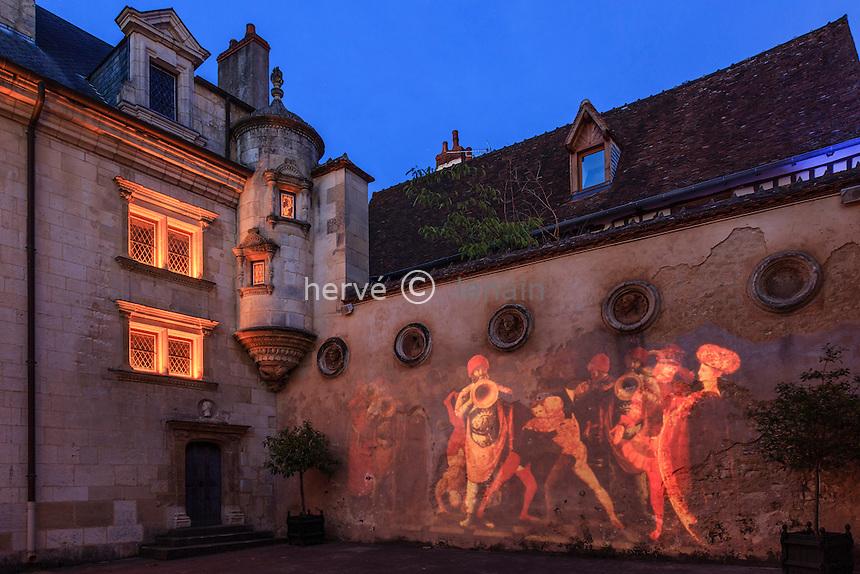 France, Cher (18), Bourges, l'Hôtel Lallemant durant les Nuits Lumières // France, Cher, Bourges, Hotel Lallemant during the Nuits Lumières