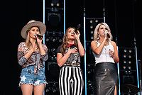 NASHVILLE, TENNESSEE - JUNE 08: Naomi Cooke, Jennifer Wayne and Hannah Mulholland of musical group Runaway June onstage during day 3 of the 2019 CMA Music Festival on June 8, 2019 in Nashville, Tennessee. <br /> CAP/MPI/IS/AW<br /> ©MPIIS/AW/Capital Pictures