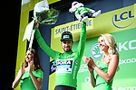 Peter Sagan (SVK) Bora-Hansgrohe retains the points Green Jersey at the end of Stage 8 of the 2019 Tour de France running 200km from Macon to Saint-Etienne, France. 13th July 2019.<br /> Picture: ASO/Pauline Ballet | Cyclefile<br /> All photos usage must carry mandatory copyright credit (© Cyclefile | ASO/Pauline Ballet)