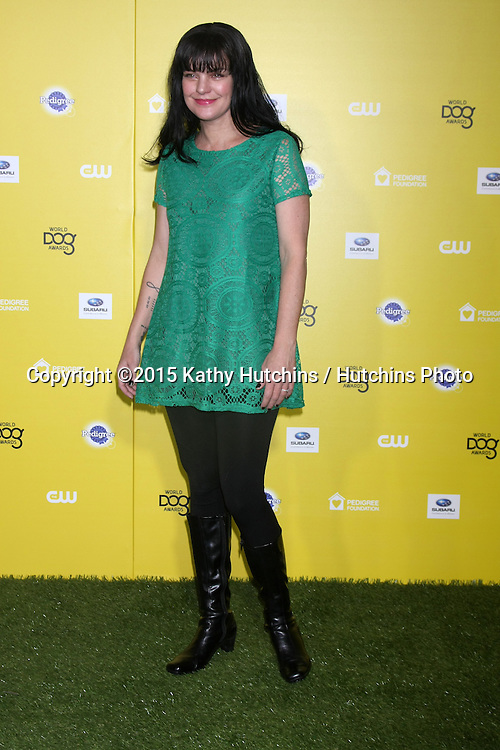 "LOS ANGELES - JAN 10:  Pauley Perrette at the CW Network presents ""World Dog Awards"" at a Barker Hanger on January 10, 2015 in Santa Monica, CA"