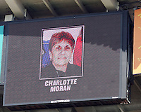 Long time Washington soccer organizer Charlotte Moran, who passed away this week, was honored with a moment of silence during a WPS match between Sky Blue FC and Washington Freedom at RFK Stadium on May 23, 2009 in Washington D.C. Freedom won the match 2-1