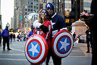 A couple take part in a protest called global noise at Manhattan in New York, United States. 13/10/2012. Photo by Eduardo Munoz Alvarez / VIEWpress.
