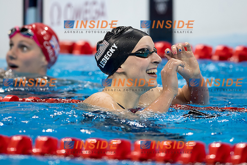 Ledecky Katie USA World Record 3.5646 and Gold medal<br /> 400 freestyle women<br /> Rio de JaneiroXXXI Olympic Games <br /> Olympic Aquatics Stadium <br /> Swimming finals 07/08/2016<br /> Photo Giorgio Scala/Deepbluemedia/Insidefoto