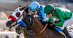 AUG 04: Mario Gutierrez drives Kingly to a win over Neptune Storm with Drayden Van Dyke in the La Jolla Stakes at The Del Mar Thoroughbred Club in Del Mar, California on August 04, 2019. Evers/Eclipse Sportswire/CSM