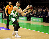 7th January 2018, San Pablo Sports Municipal Palace, Seville, Spain; Endesa League Basketball, Real Betis Energia Plus versus FC Barcelona Lassa; Luke Nelson from Betis Plus turns with the ball to bring foward
