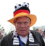 09 June 2006: A Germany fan. Germany played Costa Rica at the Allianz Arena in Munich, Germany in the opening match, a Group A first round game, of the 2006 FIFA World Cup.
