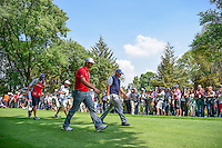 Phil Mickelson (USA) and Jon Rahm (ESP) make their way down 8 during round 4 of the World Golf Championships, Mexico, Club De Golf Chapultepec, Mexico City, Mexico. 3/5/2017.<br /> Picture: Golffile | Ken Murray<br /> <br /> <br /> All photo usage must carry mandatory copyright credit (&copy; Golffile | Ken Murray)