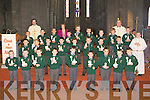 Students from Killarney Monastry NS who received their first Holy Communion in St Mary's Cathedral on Saturday front row l-r: Adam McMahon, Aaron O'Mahony-Fleming, Dylan Leary, Stephen Walsh-O'Connor, Alan O'Shea, Jack Murphy, Axel Cullen, Tadgh Doolan, Jason Rae. Middle row: Jack Enright, Igor Krupa, Padraig O'Flynn, Conor O'Leary, Tomas McCluskey, Michael Casey, Danial Lyne, Mark Moriarty Alter server. Back row: Dominick Sychta, Fr Pat Condon, Sebastian Byrbak, Alan Fabisaewski, Catherine Barry teacher, Conor Counihan, Ronan McClure, David Payne, Luke Moynihan, Conor O'Donoghue, Fr Kevin McNamara and Tomas Dean
