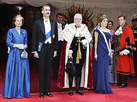 Spanish Royals at the Guildhall on the 2nd Day of UK State Visit