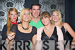 DANCING: Bobbing the night away at the first night at Benners Hotel, night club on Moinday, were, Alex Kenny, Lisa Ragosa, Sandra Cremins, Aoife McCall and Tom Meeher...