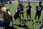 CHAPEL HILL, NC - MAY 20: Navy's Jenna Collins (44) during player introductions. The University of North Carolina Tar Heels hosted the U.S. Naval Academy Midshipmen on May 20, 2017, at Fetzer Field in Chapel Hill, NC in an NCAA Women's Lacrosse Tournament Quarterfinal match. Navy won the game 16-14.