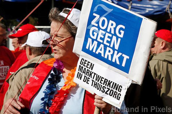 Protest tegen bezuinigingen in de gezondheidszorg
