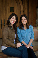 Sisters Mandy and Katie Grassini at the Grassini Family Vineyard and Winery in Santa Ynez, CA on April 12th, 2012