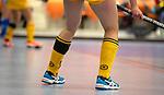 ROTTERDAM  - NK Zaalhockey .Kampong D1-Den Bosch D1 dames voor brons. Den Bosch met rouwband.    COPYRIGHT KOEN SUYK