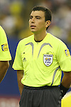 Referee Joel Aguilar (SLV) on Saturday, June 30th, 2007 at Le Stade Olympique in Montreal, Quebec, Canada. South Korea's Under-20 Men's National Team played the United States' Under-20 Men's National Team in a Group D opening round match during the FIFA U-20 World Cup Canada 2007 tournament.