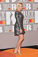 Holly Willoughby<br /> The Brit Awards at the o2 Arena, Greenwich, London, England on February 22, 2017.<br /> CAP/PL<br /> &copy;Phil Loftus/Capital Pictures /MediaPunch ***NORTH AND SOUTH AMERICAS ONLY***