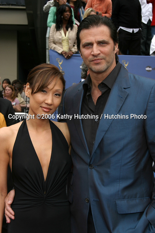 John Enos and date.33rd Daytime Emmy Awards.Kodak Theater.Hollywood & Highland.Los Angeles, CA.April 28, 2006.©2006 Kathy Hutchins / Hutchins Photo..