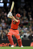 10th January 2020; Marvel Stadium, Melbourne, Victoria, Australia; Big Bash League Cricket, Melbourne Renegades versus Melbourne Stars; Shaun Marsh of the Renegades hits the ball - Editorial Use