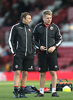 Bolton Wanderers' Kitman Paul Huddy and First Team Coach Julian Darby<br /> <br /> Photographer Rob Newell/CameraSport<br /> <br /> The EFL Sky Bet Championship - Brentford v Bolton Wanderers - Saturday 22nd December 2018 - Griffin Park - Brentford<br /> <br /> World Copyright © 2018 CameraSport. All rights reserved. 43 Linden Ave. Countesthorpe. Leicester. England. LE8 5PG - Tel: +44 (0) 116 277 4147 - admin@camerasport.com - www.camerasport.com