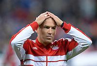 FUSSBALL   CHAMPIONS LEAGUE   SAISON 2013/2014   Vorrunde FC Bayern Muenchen - ZSKA Moskau       17.09.2013 Arjen Robben (FC Bayern Muenchen) nachdenklich