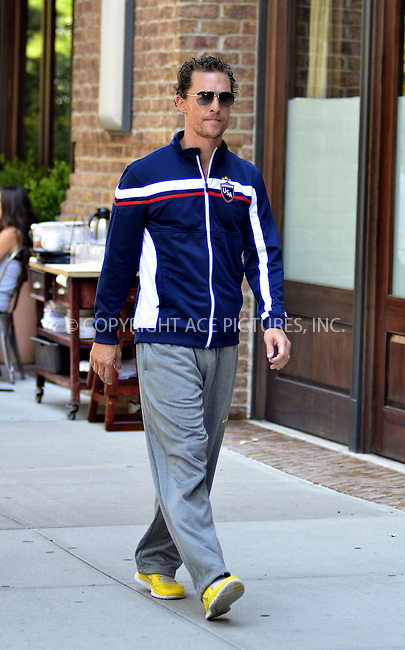 WWW.ACEPIXS.COM . . . . .  ....July 22 2012, New York City....Actor Matthrew McConaughey takes a stroll in Tribeca on July 22 2012 in New York City....Please byline: CURTIS MEANS - ACE PICTURES.... *** ***..Ace Pictures, Inc:  ..Philip Vaughan (212) 243-8787 or (646) 769 0430..e-mail: info@acepixs.com..web: http://www.acepixs.com
