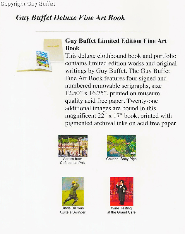 Guy Buffet &quot;Deluxe&quot; Fine Art Book 22x17<br />